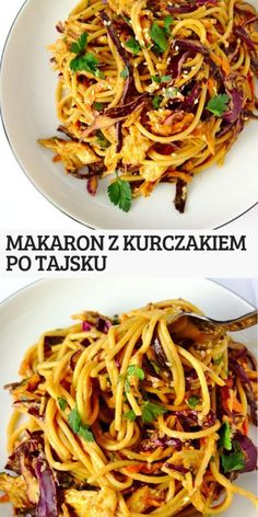 Thai noodles with sweet and spicy sauce Sweet Cooking Pasta Dinner Recipes, Yummy Pasta Recipes, Cooking Recipes, Healthy Recipes, Big Meals, Easy Meals, Sweet And Spicy Sauce, Good Food, Yummy Food