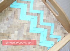 DIY Herringbone Tray | Read more here: http://www.stylemepretty.com/living/2012/10/07/diy-herringbone-tray-from-rebecca-hansen-weddings/