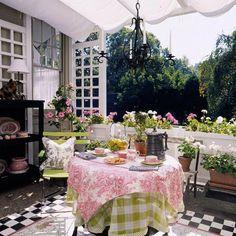 Outdoor Zimmer-Tischdecke Pergola Terrasse