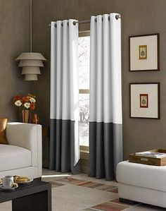 Kendall Color Block Grommet Curtain Panel Curtainworks