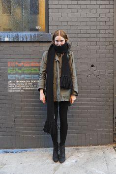 black scarf