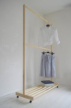 Home Discover Partisi Hand Made Pine Wood Two Rails for Clothes with Shelf and Wood Clothing Rack Wooden Clothes Rack Diy Clothes Rack Clothes Rail Clothing Storage Shelves For Clothes Placard Simple Closet Bedroom Bedroom Decor Cheap Diy Home Decor, Placard Simple, Wood Clothing Rack, Wooden Clothes Rack, Hanging Clothes Racks, Pine Design, Diy Casa, Simple Closet, Clothes Rail