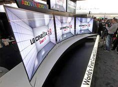 LG lanza una versión curva de pantalla OLED. #CES2013