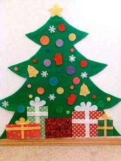 DIY Felt Christmas Tree for kids | Merry Christmas | Pinterest ...