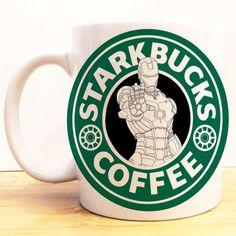 Iron Man Starkbucks Coffee Mug Avengers Civil War Starbucks Disney Marvel