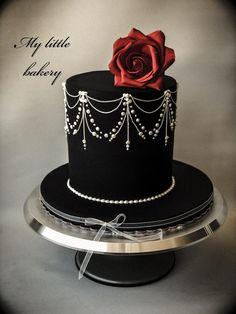 Passion - cake by Sandra Draskovic Gothic Birthday Cakes, Pretty Birthday Cakes, Pretty Cakes, Beautiful Wedding Cakes, Beautiful Cakes, Amazing Cakes, Bolo Halloween, Halloween Cakes, Crazy Cakes