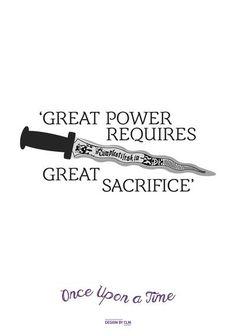 un grand pouvoir necessite de grand sacrifice