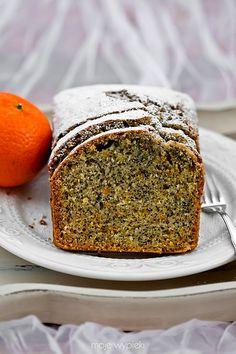 Cytrusowe ciasto makowe European Dishes, Poppy Seed Cake, Polish Recipes, Quick Bread, Holiday Desserts, Pound Cake, Cake Cookies, Sweet Recipes, Banana Bread