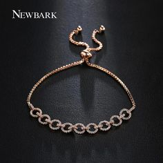 Find More Chain & Link Bracelets Information about NEWBARK Latest Design Charm Bracelet for Women With 9 Circles Connected Exquisite Jewelry Paved CZ Daily Life Accessories,High Quality bracelet cool,China charms for jewelry making Suppliers, Cheap charm bracelet from Newbark Official Store on Aliexpress.com