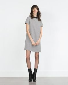 ** Zara.com: HOUNDSTOOTH DRESS **   -- I LOVE the Square-cut Peter Pan Collar w/ the Sharp End-Points!!   -- Great Dress for Mix N Match Heels, Flats, Various Pops of Color w/ Accessories...   -- Found this Website thru PopSugar.com's Fashion TAB   -- Dress = $49.90 USD   -- Shipping = Free w/ $50+ Orders (or $4.95 Flat-rate) -&- Returns = Free   -- CHECK-OUT THIS SITE!!.. (Includes: Men, Women & Kids) = http://www.zara.com/us/