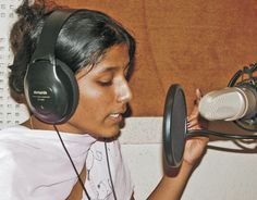 A radio journalist in India. Gender Issues, The Voice, Youth, India, Women, Goa India, Women's, Young Adults, Teenagers