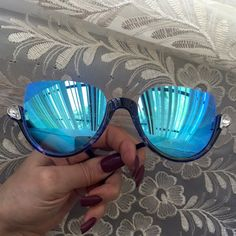Spotted while shopping on Poshmark: Blue Mirror Lens Half Frame Sunglasses! #poshmark #fashion #shopping #style #Accessories