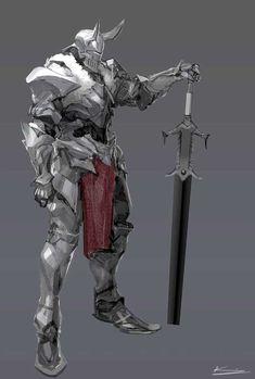 Paladin warrior reference fantasy sword and sorcery Fantasy Armor, Medieval Fantasy, Dark Fantasy, Fantasy Sword, Fantasy Character Design, Character Concept, Character Art, Character Costumes, Character Ideas