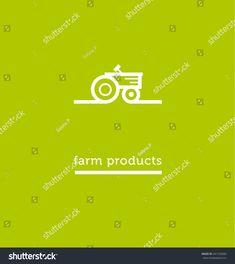tractor white icon. simple vector illustration.  Grown Locally Farm Fresh symbol logo