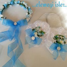 Lohusa terligi ve taci Ribbon Embroidery, Mom And Baby, Girls Bedroom, Table Runners, Marie, Birth, Baby Shoes, Wreaths, Diys