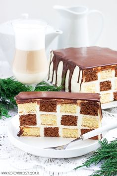 Ciasto szachownica - przepis - #ciasto #przepis #szachownica Polish Cake Recipe, Polish Recipes, Checkerboard Cake, Icing Recipe, Russian Recipes, Easter Recipes, How To Make Cake, Cake Recipes, Cake Decorating
