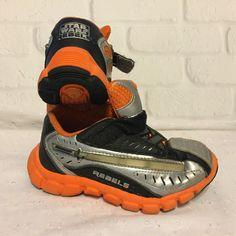 Stride Rite STAR WARS REBELS Light saber Light-Up Shoes Kids Size 9.5 Wide #StrideRite #Athletic