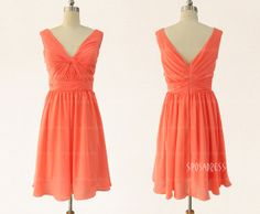 Orange bridesmaid dresses short bridesmaid dresses by sposadress, $92.00, available in many colors