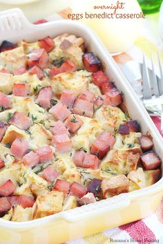 There is nothing like waking up to a delicious eggs benedict casserole awaiting you with little or no effort on your part just ready to be placed in a hot oven until the aroma wafts through the house.