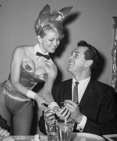 Rock Hudson and a Playboy Bunny.