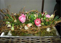 flowery pink birdsnest