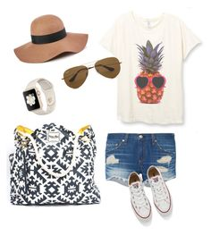 """""""Summer casual with Valere Rene"""" by vrhandbags on Polyvore featuring rag & bone, Ray-Ban, Converse and Reiss"""