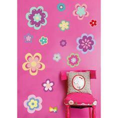 Vinilo Decorativo Infantil- Flores, Colores, Niñas, WALL STICKER DECOR
