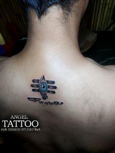 Eye of Lord Shiva tattoo : call-whatsapp 8826602967 Angel Tattoo Design Studio gurgaon for Arm Band Tattoo For Women, Hand Tattoos For Women, Tattoos For Guys, Angel Tattoo Designs, Tattoo Designs For Girls, Tattoo Designs Men, Tattoos Skull, Top Tattoos, Tatoos