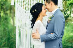 Organic Styled Shoot with a Hand-Knotted Macrame Backdrop