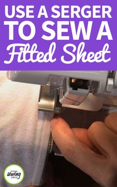 Fitted sheets can get expensive to buy, especially if they're made from a luxurious fabric like Minky. Watch as Ellen March takes you through the steps of how to make your own. Learn what size mattress this project works best with and why, how to take the right measurements and how to construct the sheet. You'll learn which stitch to use on your serger, as well as how to sew the same sheet on a conventional machine. Ellen will explain how easy it can be to add elastic to the sheet, or any…