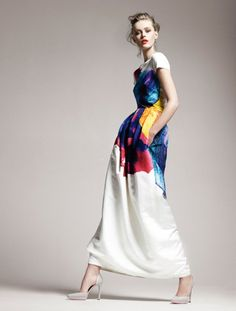 jil sander dress spring 2011. (today's post at threadethic.com, inspired by easter eggs)