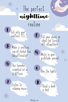 A night time routine is the perfect addition to your self care routine! It's a great habit that can set you up for success! Routine Planner, Daily Routine Schedule, Daily Routines, Beauty Routines, Night Time Routine, School Night Routine, Morning Yoga Routine, Early Morning Workouts, Evening Routine