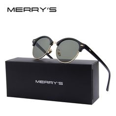Men Retro Rivet Polarized Sunglasses Classic Brand Designer Unisex  Sunglasses Half Frame S 8054 Polarized b3d1266d87