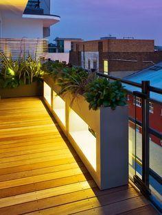Terrace Garden Design, Rooftop Design, Rooftop Terrace, Patio Design, Rooftop Gardens, Terrace Ideas, Balkon Design, Patio Roof, Roof Balcony