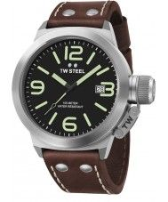 TW Steel CS21 Canteen Brown Leather Strap Watch