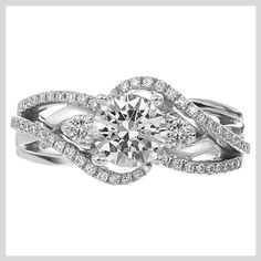 Modern Engagement Ring - Love!