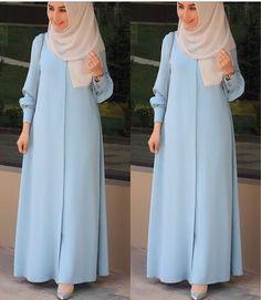 hijab yoga for men - Yoga Hijab Gown, Hijab Style Dress, Hijab Chic, Abaya Style, Hijab Outfit, Islamic Fashion, Muslim Fashion, Abaya Fashion, Fashion Dresses