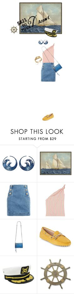 """""""I am sailing"""" by gabrielleleroy ❤ liked on Polyvore featuring Pottery Barn, Balmain, Rosie Assoulin, Aimee Kestenberg, Tod's, Dorfman Pacific and Adeco"""