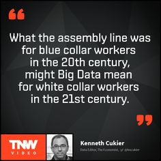 Kenneth Cukier talks about the possibilities of Big Data. How can Big Data help to save a life? Watch his talk on TNW Video.