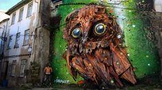 """Três artistas portugueses foram incluídos na lista do movimento """"I Support Street Art"""", que reconhece os melhores murais realizados em todo o mundo no ano passado."""