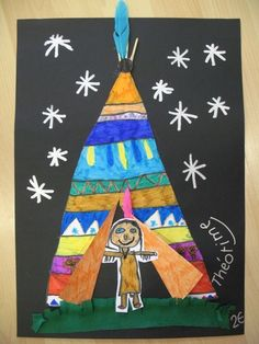 Mama C/November Thanksgiving = Native Americans & Pilgrims Native American Crafts, Native American Artists, American Indian Art, Fall Art Projects, School Art Projects, Classe D'art, November Crafts, Kindergarten Art Projects, Thanksgiving Art