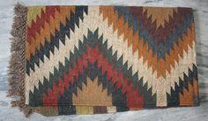 "Wool Jute Rug Nomadic handwoven vintage kilim 36 x 40""Inch turkish kilim rug #Turkish"