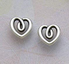 Heart String Ear Posts #jamesavery #jewelry