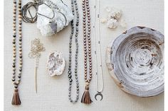 gold & gray jewelry effortlessly fuses a bohemian beach spirit with an unexpected urban edge. Designed to be worn alone or layered together, gold & gold jewelry can take you from day to night with earthy, modern glamour.