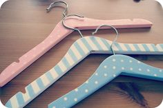 Decorate Wooden Coat Hangers To Create A Personal One Of A