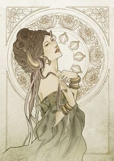 Taurus - Beauty, earth and art (Illustration Horoscope for Indonesia printer 2008)