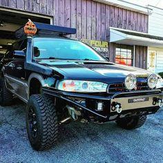 off-road Subaru Outback wagon