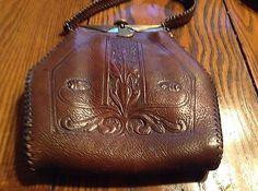 Antique-Art-Nouveau-Hand-Tooled-Late-1800s-Thru-1915-Rare-Coin-Mirror-Excellent