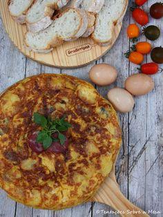 Tentações Sobre a Mesa: Tortilha de Batata com Chouriço