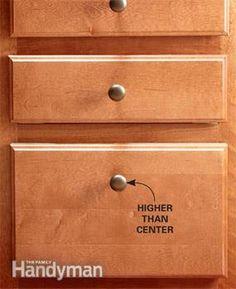 Installing Kitchen Cabinet Hardware | Installing kitchen cabinets ...